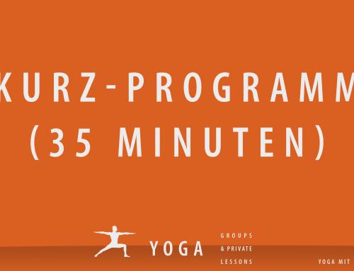35-Minuten Yoga-Kurzprogramm